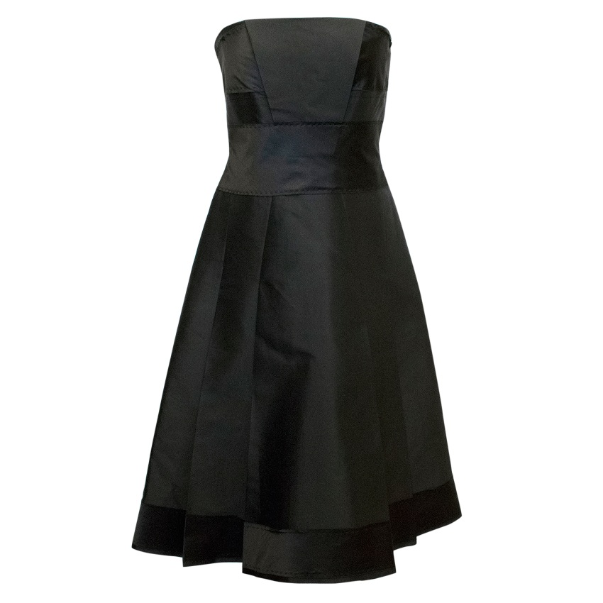 Amanda Wakeley Black Corsage Middle-Length Dress